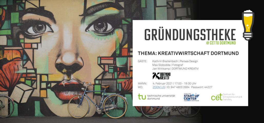 Herzliche Einladung: CET Gründungstheke – Kreativwirtschaft Dortmund