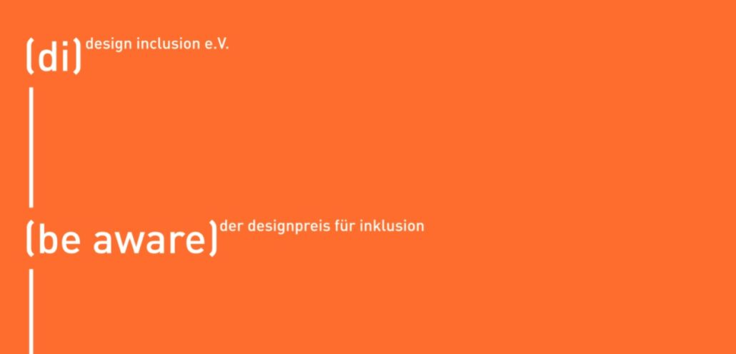 (be aware) designpreis für inklusion