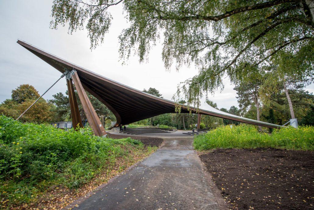 Sonnensegel im Westfalenpark nach Sanierung wieder geöffnet