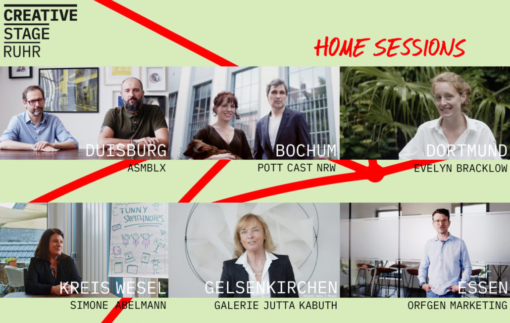 CREATIVE STAGE RUHR – HOME SESSIONS: Neue Staffel online!